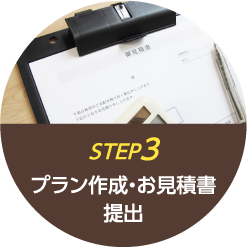 step3 プラン作成・お見積書提出